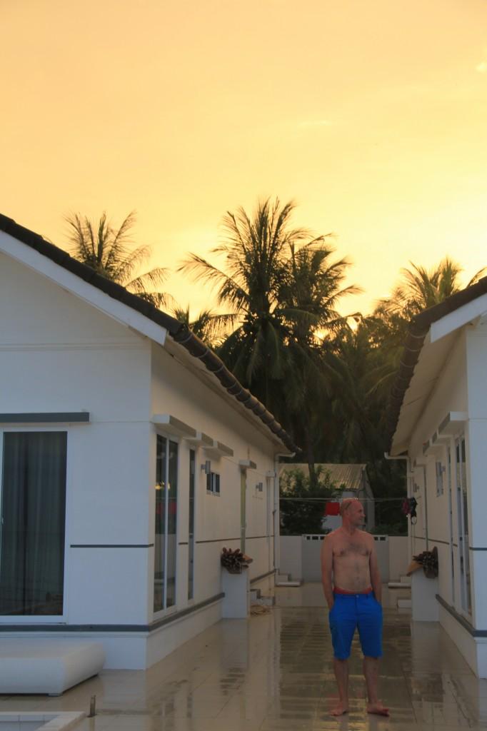 På kvällen blev det ett magiskt sken i solnedgången.